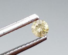 0.13ct Faint Green  Diamond , 100% Natural Untreated