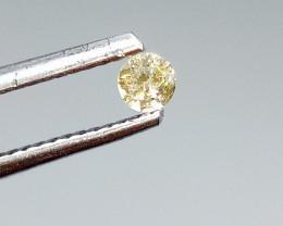 0.12ct Light Brown  Diamond , 100% Natural Untreated