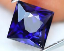 Iolite 2.69Ct Princess Cut Natural Vivid Purplish Blue Iolite A3118
