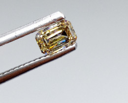 0.50ct  Fancy Light Brown Yellow Diamond , 100% Natural Untreated