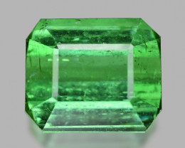 2.60 Cts Un Heated Fancy Green Color Natural Tourmaline Loose Gemstone