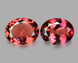 3.31 Cts 2pcs Un Heated Pink Color Natural Tourmaline Loose Gemstone