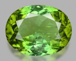 4.10 Cts Un Heated Green Color Natural Tourmaline Loose Gemstone