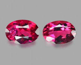 1.68 Cts 2pcs Pair Un Heated Pink Color Natural Rubellite  Loose Gemstone