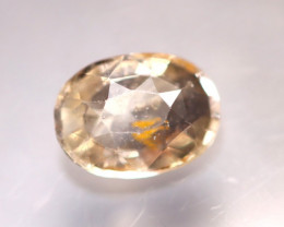 Unheated 1.48Ct Natural Unheated Orangey White Sapphire D0410/B32