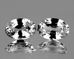 7x5 mm Oval 2 pcs 3.14cts White Zircon [VVS]