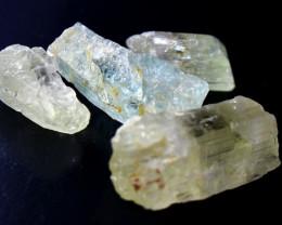 178.00 CT Natural & Unheated Yellow Kunzite Crystal Lot