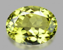 1.60 Cts Un Heated Yellow Green Color Natural Tourmaline Loose Gemstone