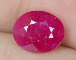 3.88 Cts Natural Pinkish Red Ruby Loose Gemstone