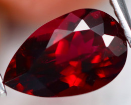 Rubellite 1.60Ct VS Pear Cut Natural Vivid Red Rubellite Tourmaline B0109
