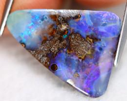Boulder Opal 6.61Ct Natural Australian Blue Color Boulder Opal B0120