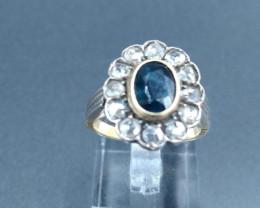 Sapphire & Diamond 18ct Gold ring