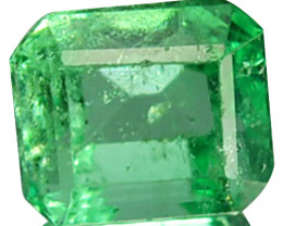Natural Vivid Green Emerald Octagon Cut Colombia 0.53 Cts