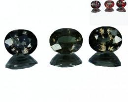 1.64 Cts Natural Color Change Garnet 5.4x4.5mm Oval Cut 3Pcs Tanzania
