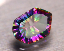 Mystic Topaz 6.36Ct Natural IF Mystic Rainbow Topaz E0525/A47