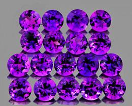 3.00 mm Round 30 pcs 2.96cts Purple Amethyst [VVS]