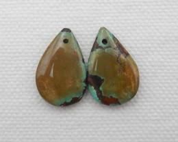 13.5cts Turquoise Earrings,Handmade Gemstone ,Turquoise Earrings G164