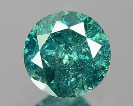 0.12 Cts Sparkling Rare Fancy  Blue Green Color Natural Loose Diamond