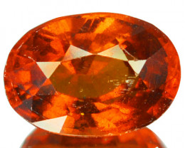 2.76 Cts Natural Cinnamon Orange Hessonite Garnet Oval Sri Lanka