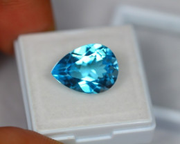 9.54Ct Natural Swiss Blue Topaz Pear Cut Lot LZ680
