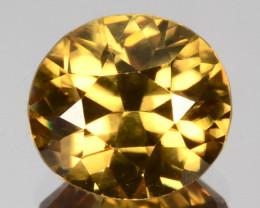 ~SHIMMERING~ 2.89 Cts Natural Golden Zircon Oval Custom Cut Tanzania