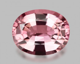 Exquisite natural pink rubellite tourmaline.