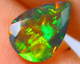 1.30cts Natural Ethiopian Welo Faceted Smoked Opal / RD1496