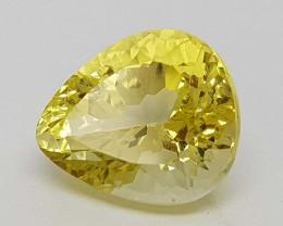 4.85Crt Concave lemon Quartz Natural Gemstones JI8