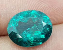 4.25Crt Green Topaz Natural Gemstones JI8