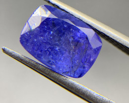 3.55 ct Natural Tanzanite Cushion Cut loose gemstone Ideal for mounting on