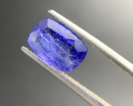 2.58 ct Natural Tanzanite Cushion cut loose gemstone Ideal for mounting on