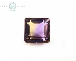6.74 carats Natural Ametrine Gemstone Octa cut