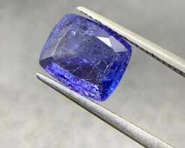 2.96 ct Natural Tanzanite Cushion Cut loose gemstone Ideal for mounting on