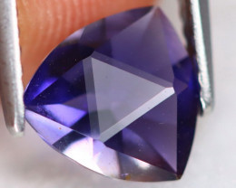 Iolite 1.10Ct VVS Precision Cut Natural Vivid Purplish Blue Iolite A1423