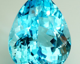 24.48 ct. Natural Top Quality Sky Blue Topaz Brazil - IGE Сertified