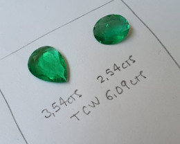 6.09 Colombian Emerald Pair