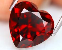 Almandine 4.56Ct VVS Heart Cut Natural Red Almandine Garnet AN0222