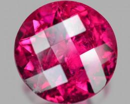 3.94 Cts Un Heated Checker Board Pink Color Natural Rubellite  Gemstone