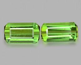 3.30 Cts 2pcs Un Heated Green Color Natural Tourmaline Loose Gemstone
