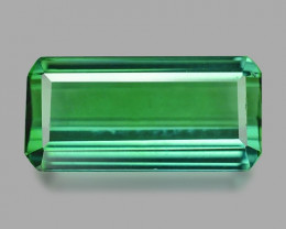 2.28 Cts Un Heated Green Color Natural Tourmaline Loose Gemstone