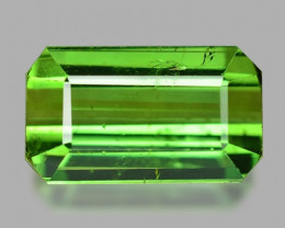 2.92 Cts Un Heated Green Color Natural Tourmaline Loose Gemstone