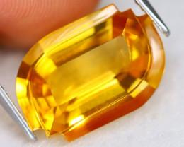 Citrine 8.23Ct VVS Designer Cut Natural Golden Yellow Citrine B2118
