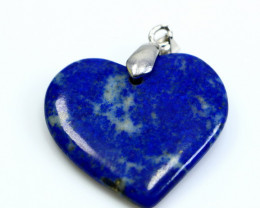 43.40 CT Natural  Beautiful Blue Lapis Lazuli Heart Pendant
