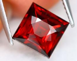 Almandine 2.78Ct VVS Square Cut Natural Red Almandine Garnet B0320