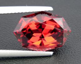 8.05ct Beautiful Fancy cut Natural Rhodolite Garnet from Africa (Tanzania)