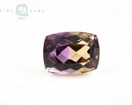 9.93 carats Natural Ametrine Gemstone Cushion cut