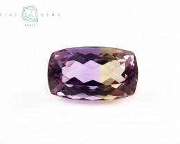 11.45 carats Natural Ametrine Gemstone Cushion cut
