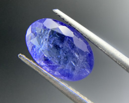 2.88 ct Natural Tanzanite Oval Cut loose gemstone Ideal for mounting on jew