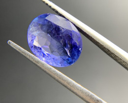 3.61 ct Natural Tanzanite Oval Cut loose gemstone Ideal for mounting on jew