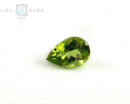 2.13  carats Natural Peridot Gemstone Pear  cut